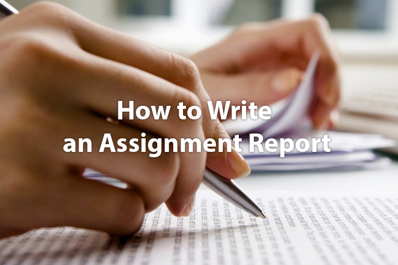 How To Write An Assignment Report  Free Assignment Sample  How To Write An Assignment Report  Free Assignment Sample   Anyassignmentcom