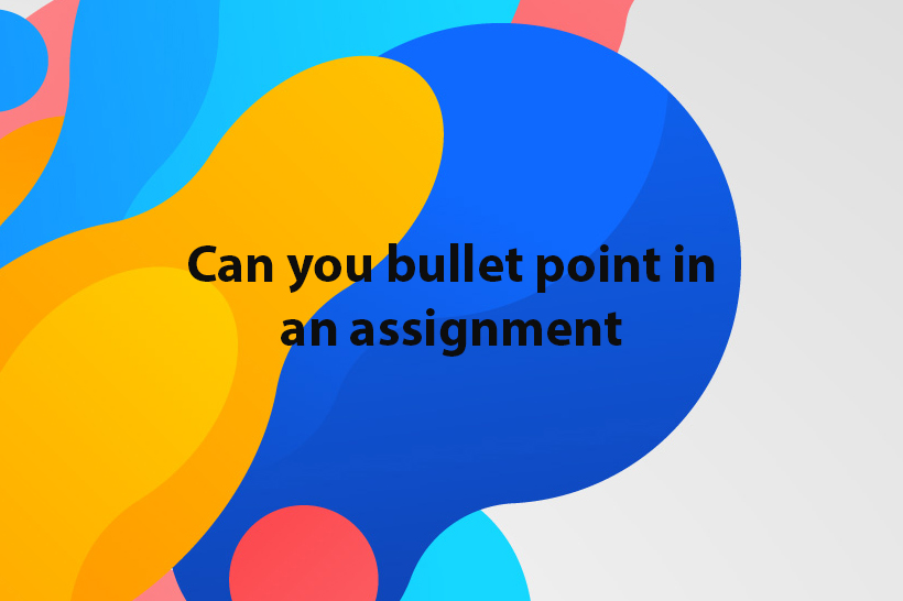 can you bullet point in an assignment